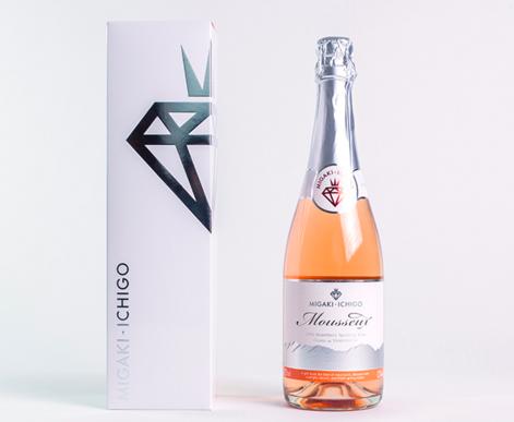イチゴのスパークリングワイン「ミガキイチゴ・ムスー、カネット」が甘くて美味しい!