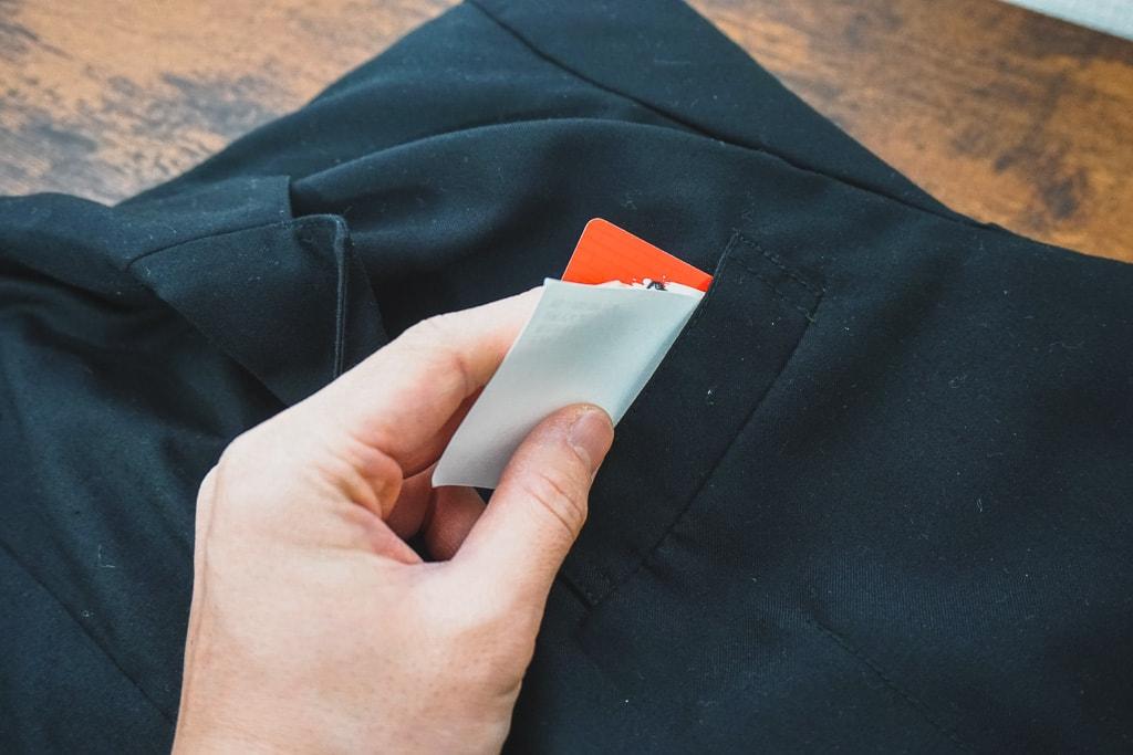 ポケットを確認