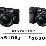 【徹底比較】ソニー「α6000」と「α5100」どっちにするべき?ぼくはα5100を選びました!