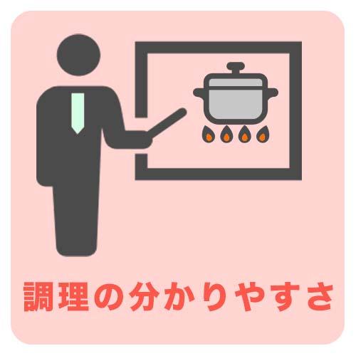 調理の分かりやすさ