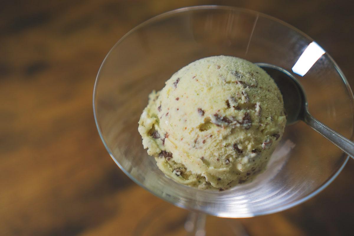 チョコミントアイスクリーム完成!