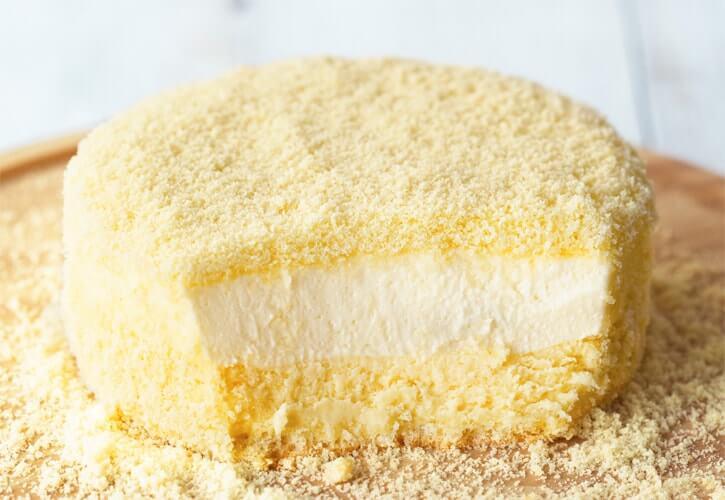 二層のチーズケーキ「ドゥーブルフロマージュ」