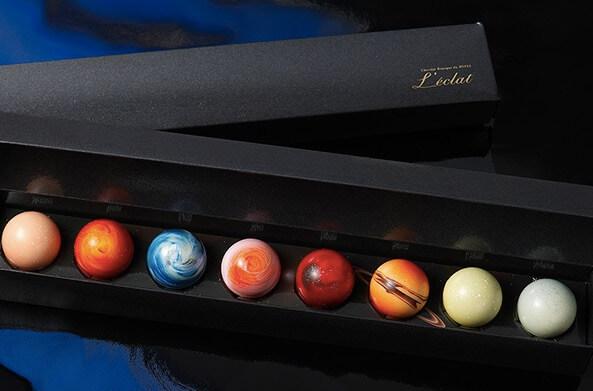 光り輝くチョコレート「惑星の輝き」