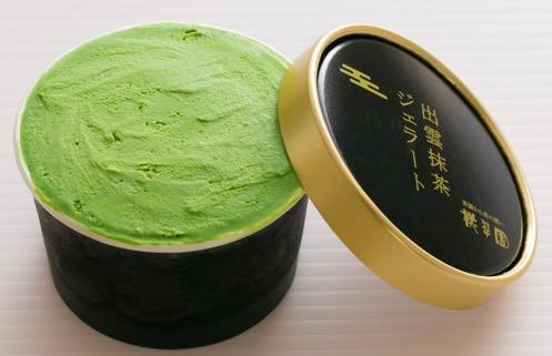 1kg10万円の高級抹茶を使用!「出雲抹茶ジェラート」