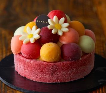 フルーツの花束アイス。「バルーンドフリュイ」