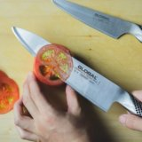 憧れのグローバル包丁「牛刀・ペティナイフ」を購入!オールステンレスならではの使い心地【レビュー】