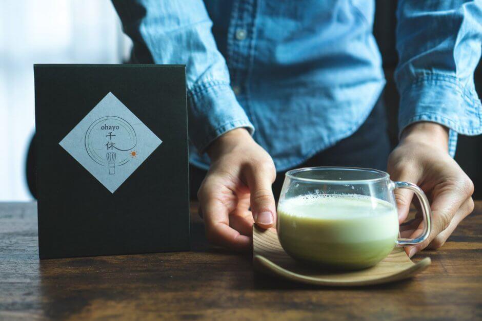 抹茶好きのための抹茶ラテ。「千休(センキュー)」の抹茶が美味しい...。