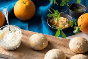 マスカルポーネと柑橘ピールのふんわりルパン
