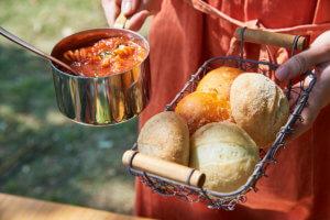 有機トマトとモッツァレラチーズのルパン
