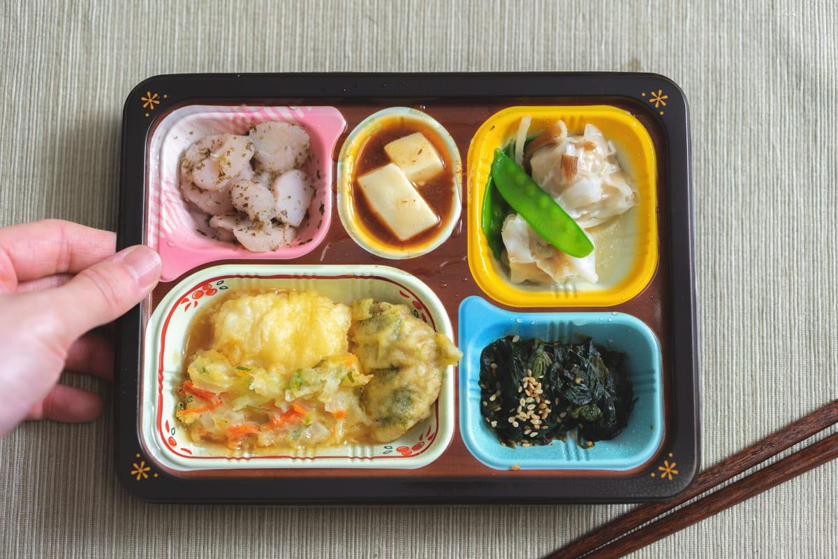 魚介天ぷらのと野菜のかき揚げ弁当