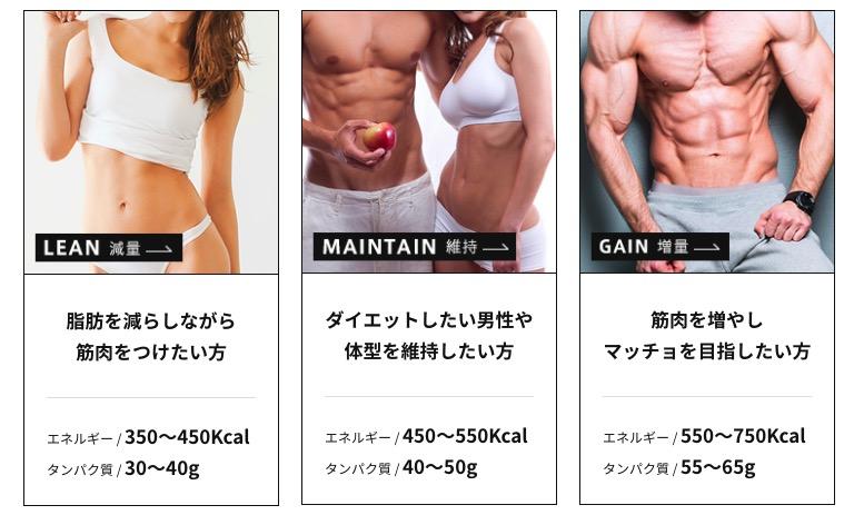 なりたい身体に合わせた3種類のプラン