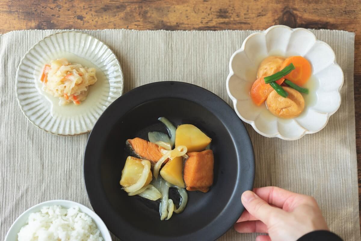 北海道産鮭とじゃが芋の炒め物セット(解凍)