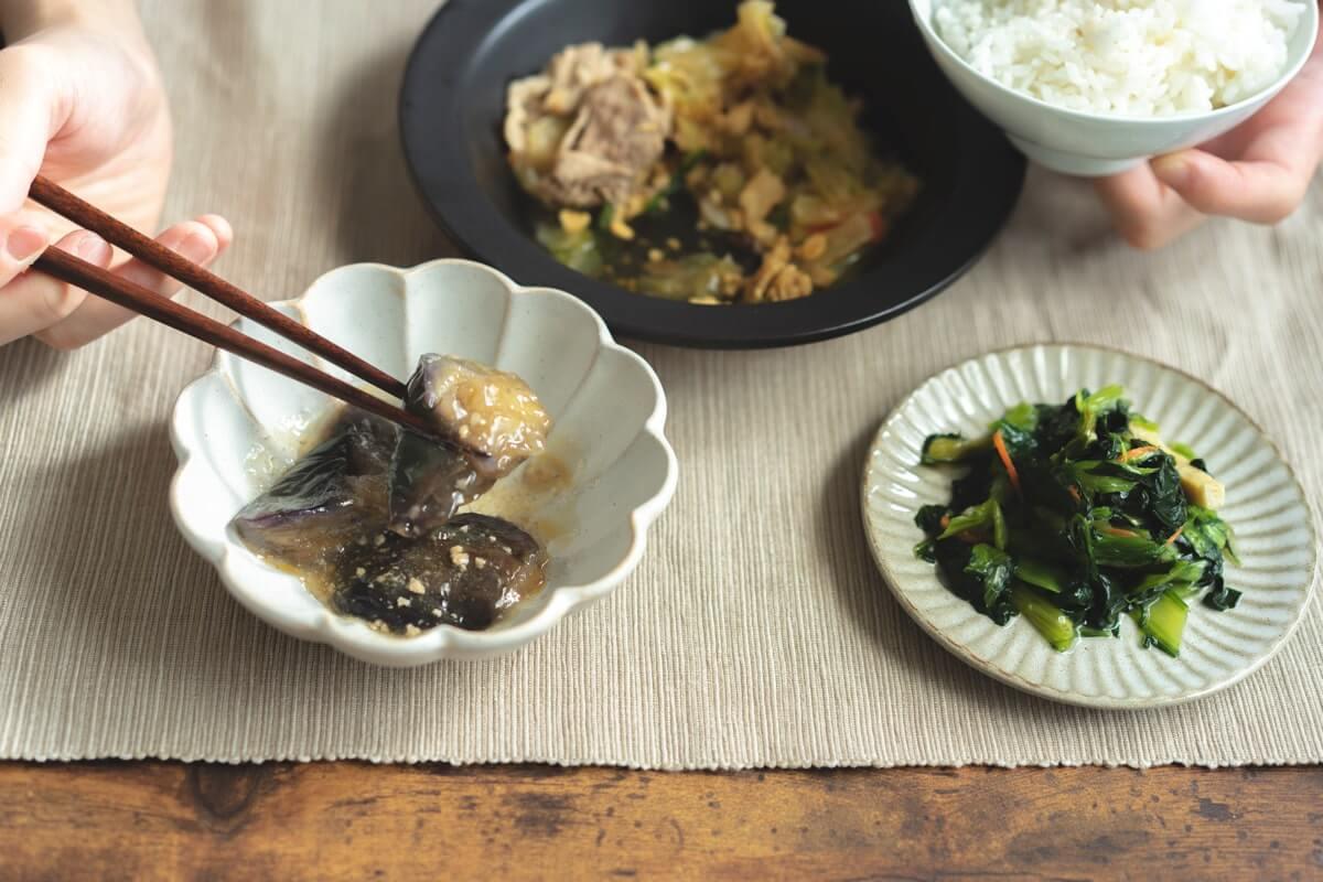 小松菜と揚げの煮浸し