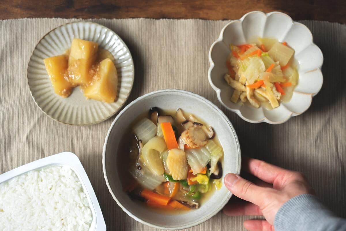 国産あさりと帆立貝の海鮮八宝菜セット(解凍)