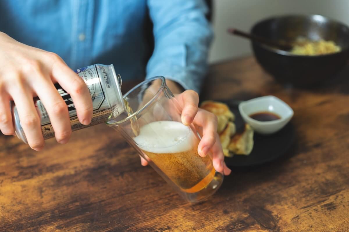 ビールをいただきます。