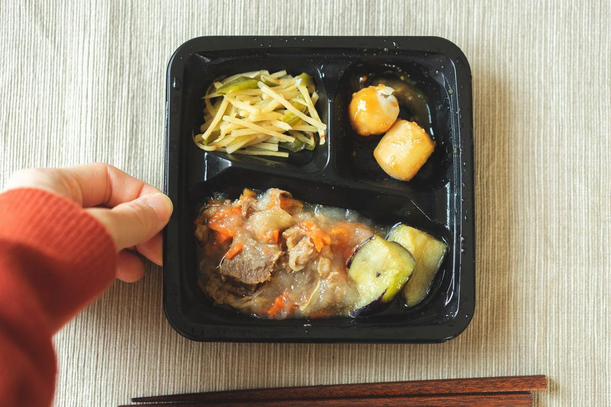 牛肉と野菜のおろしがけ