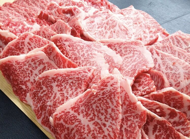 下町のお肉屋さん くり助「カルビ・赤身・上カルビ・火打ち 牛肉食べ比べセット」